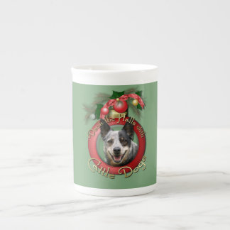 Christmas - Deck the Halls - Cattle Dogs Bone China Mug