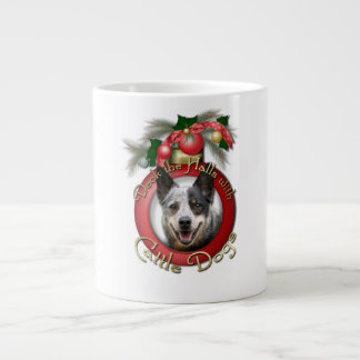Christmas - Deck the Halls - Cattle Dogs Jumbo Mug
