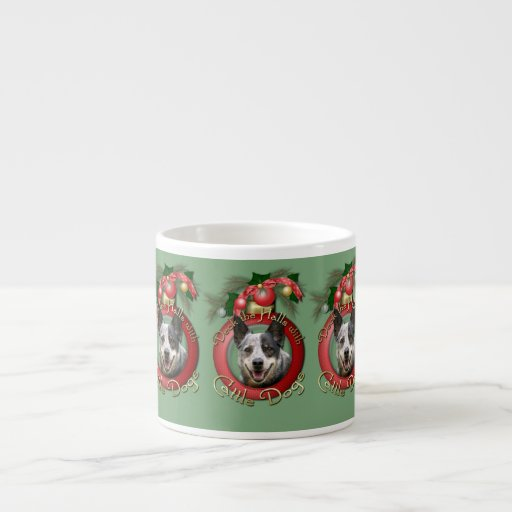 Christmas - Deck the Halls - Cattle Dogs Espresso Cup