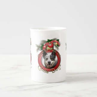 Christmas - Deck the Halls - Cattle Dogs Bone China Mugs