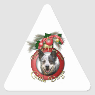 Christmas - Deck the Halls - Cattle Dogs Stickers