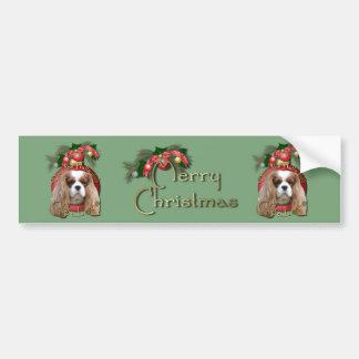 Christmas - Deck the Halls - Cavaliers - Blenheim Bumper Sticker