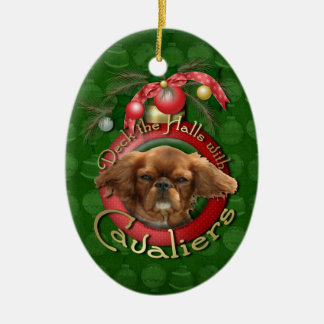 Christmas - Deck the Halls - Cavaliers - Ruby Christmas Ornament