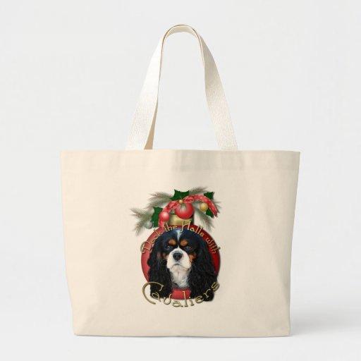 Christmas - Deck the Halls - Cavaliers - Tri-Color Tote Bag