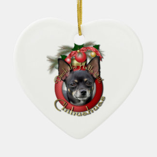 Christmas - Deck the Halls - Chihuahuas - Isabella Christmas Ornament