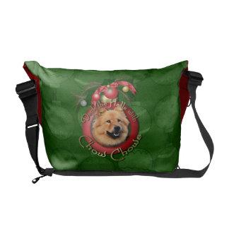 Christmas - Deck the Halls - Chows - Cinny Messenger Bag