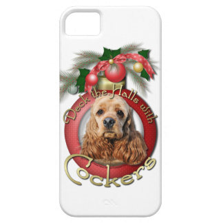 Christmas - Deck the Halls - Cockers iPhone 5 Case