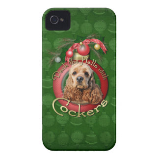 Christmas - Deck the Halls - Cockers Blackberry Bold Cases