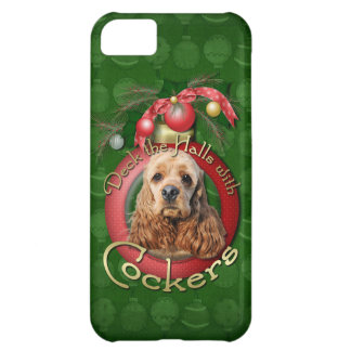 Christmas - Deck the Halls - Cockers iPhone 5C Cases