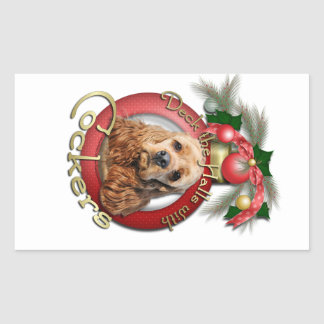 Christmas - Deck the Halls - Cockers Sticker