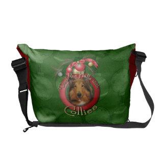 Christmas - Deck the Halls - Collie - Natalie Messenger Bag