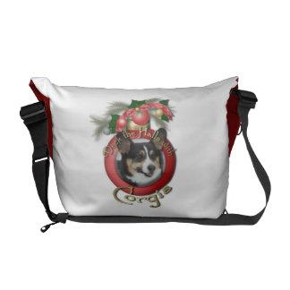 Christmas - Deck the Halls - Corgis Commuter Bag