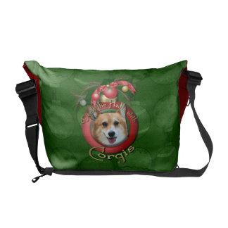 Christmas - Deck the Halls - Corgis - Owen Courier Bags