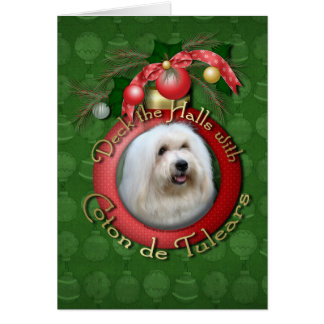 Christmas - Deck the Halls - Cotons Card