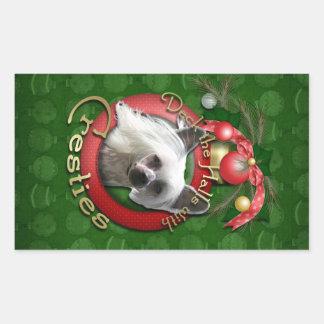 Christmas - Deck the Halls - Cresties Rectangle Sticker