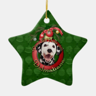 Christmas - Deck the Halls - Dalmatians Christmas Ornament