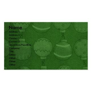 Christmas - Deck the Halls - Danes Business Card Templates