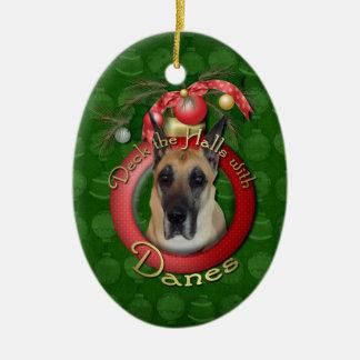Christmas - Deck the Halls - Danes Christmas Ornament