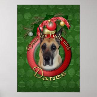 Christmas - Deck the Halls - Danes Poster