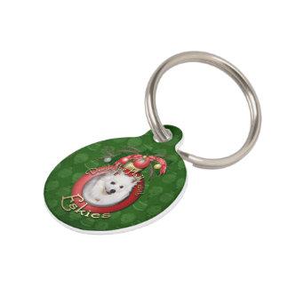 Christmas - Deck the Halls - Eskies Pet Name Tag