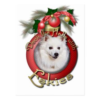 Christmas - Deck the Halls - Eskies Postcard
