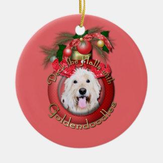 Christmas - Deck the Halls - GoldenDoodles - Daisy Christmas Ornament