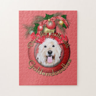 Christmas - Deck the Halls - GoldenDoodles - Daisy Jigsaw Puzzle