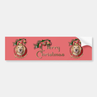 Christmas - Deck the Halls - Goldens - Corona Bumper Sticker