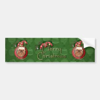 Christmas - Deck the Halls - Griffons Bumper Sticker