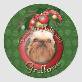 Christmas - Deck the Halls - Griffons Stickers