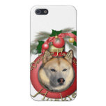 Christmas - Deck the Halls - Huskies - Copper iPhone 5 Covers