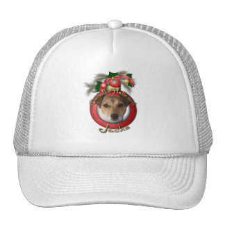 Christmas - Deck the Halls - Jack Russell Trucker Hat
