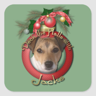 Christmas - Deck the Halls - Jack Russell Stickers