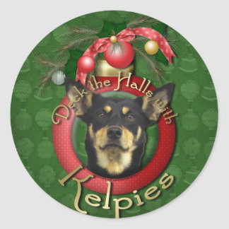 Christmas - Deck the Halls - Kelpies Round Sticker