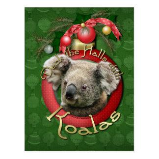 Christmas - Deck the Halls - Koalas Postcard