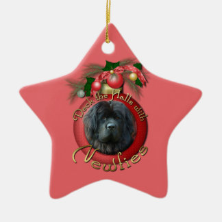 Christmas - Deck the Halls - Newfie Christmas Ornament