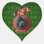 Christmas - Deck the Halls - Newfie Sticker