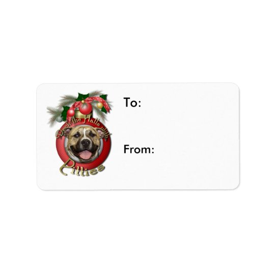 Christmas - Deck the Halls - Pitties - Tigger Address Label