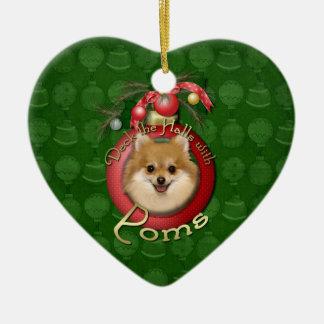 Christmas - Deck the Halls - Poms Christmas Ornament