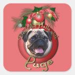 Christmas - Deck the Halls - Pugs