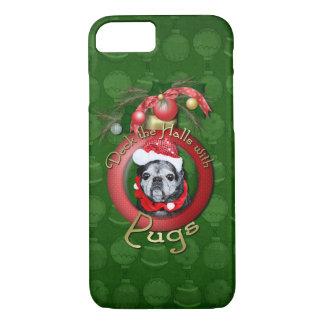 Christmas - Deck the Halls - Pugs - Angel iPhone 7 Case