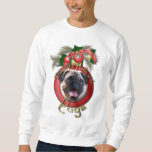Christmas - Deck the Halls - Pugs Pull Over Sweatshirt