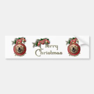 Christmas - Deck the Halls - Retrievers - Mickey Bumper Sticker
