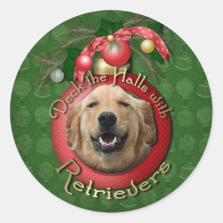 Christmas - Deck the Halls - Retrievers - Mickey Stickers