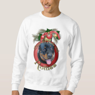 Christmas - Deck the Halls - Rotties - Harley Sweatshirt