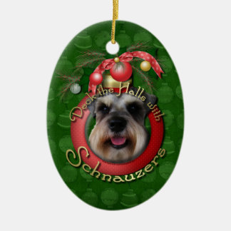 Christmas - Deck the Halls - Schnauzers Christmas Ornament