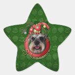 Christmas - Deck the Halls - Schnauzers Star Sticker