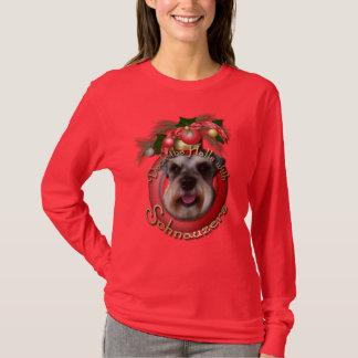 Christmas - Deck the Halls - Schnauzers T-Shirt