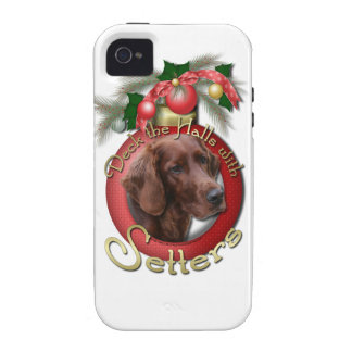Christmas - Deck the Halls - Setters iPhone 4 Covers