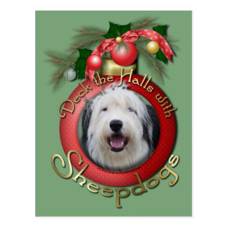 Christmas - Deck the Halls - Sheepdogs Post Card